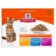 Hill's Feline Adult Chicken & Ocean Fish & Beef Optimal Care MULTIPAK saszetka 12x85g-1