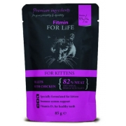Fitmin Cat For Life Kitten Chicken saszetka 85g-1